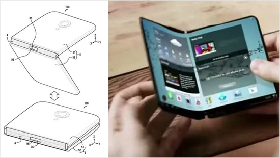 삼성, 접는 '폴더블 스마트폰' 특허…옛날 피처폰과 쌍둥이?