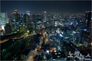 공중정원 전망대에서는 오사카 시내 전경을 한눈에 볼 수 있다. (사진=땡처리닷컴 제공)