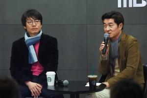 '역적' 김진만 감독과 배우 김상중 (사진=MBC 제공)