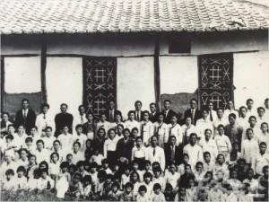 1930년대 중화동교회 성도들 모습.