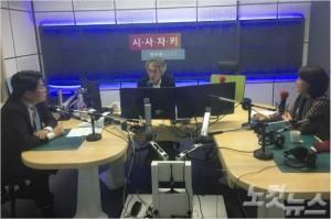 바른정당 장제원 의원과 더불어민주당 이재정 의원. (사진=시사자키 제작팀)