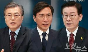 문재인 전 민주당 대표, 안희정 충남지사, 이재명 성남시장 (사진=자료사진)