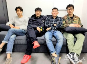 왼쪽부터 정글(Zungle) 공동창업자 박인준 COO, 홍석우 CDO, 방승태CMO, 양희욱 CEO