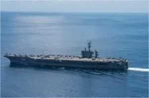 미 해군이 지난 15일 촬영한 항공모함 칼빈슨호. 촬영 당시 칼빈슨호는 인도네시아 인근에서 운항 중인 것으로 확인됐다. (사진=미 해군/ U.S. Navy photo by Mass Communication Specialist 3rd Class Matt Brown/Released)