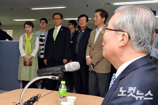 김종인 기자간담회 참석한 국민의당 이언주-문병호