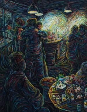 가리비 밀롱가2 53x45.5 cm 캔버스에 유채 2015.