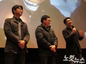 YTN은 2008년 대량징계 사태 이후 아직도 3명의 기자들이 돌아오지 못하고 있다. 왼쪽부터 노종면, 조승호, 현덕수 해직기자 (사진=김수정 기자)