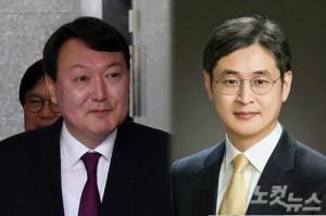 윤석렬 신임 서울중앙지검장과 박형철 반부패비서관 (사진=자료사진)