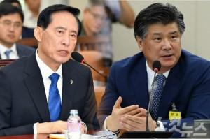 송영무 국방부 장관 후보자와 조대엽 고용노동부 장관 후보자 (사진=자료사진)