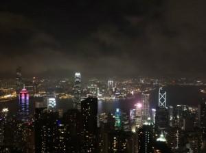 빅토리아피크에서 바라본 화려한 홍콩 야경. (사진=웹투어 제공)