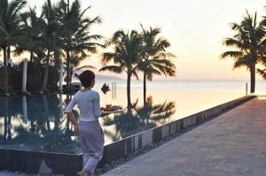 퓨전 마이아 호텔에서는 언제든 아름다운 해변을 바라보며 조식을 즐길 수 있다. (사진=스테이앤모어 제공)