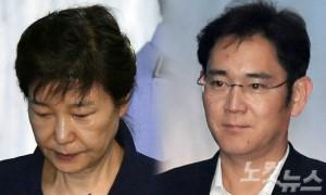 박근혜 전 대통령(왼쪽)과 이재용 삼성전자 부회장 (사진=자료사진)