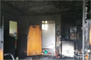 17일 오전 11시 12분께 전북 정읍시 산외면 한 주택에서 불이 나 2명이 부상을 입었다. (사진=전북소방본부 제공)