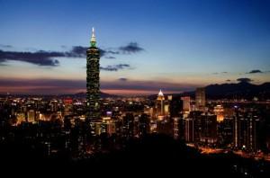 이완의 랜드마크 101타워에서 내려다보는 야경은 무척이나 아름답다(사진=투어2000(투어이천) 제공)