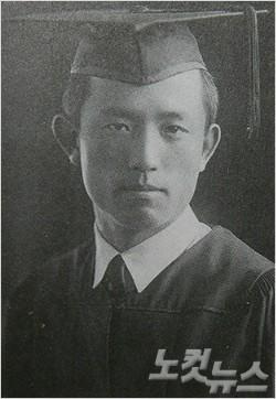 윤동주 시인의 연희전문학교 졸업사진.