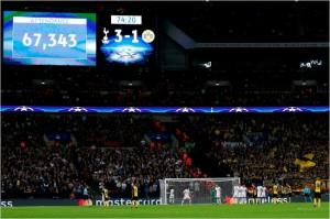 6만7343명의 관중이 들어찬 웸블리 스타디움의 모습. (사진=UEFA 홈페이지)