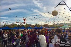 지난 14일 열린 '제 19회 효성 1004 마을 축제' 현장.