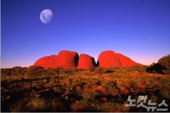 자연이 빚어낸 거대 바위 호주 '울룰루'