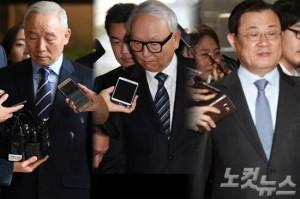 왼쪽부터 남재준, 이병호, 이병기 전 국정원장. (사진=자료사진)