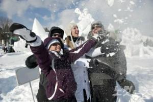 겨울이 되면 퀘벡에서는 세계최대의 겨울축제를 즐길 수 있다. (사진=캐나다관관청 제공)