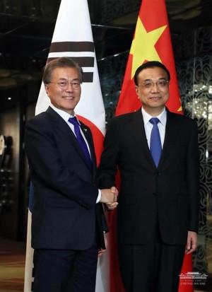 문재인 대통령과 중국 리커창 총리 (사진=청와대 페이스북)