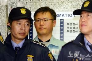 정호성 전 청와대 비서관이 지난 2월 6일 오후 서울 대치동 특검사무실로 소환되고 있다. 이한형기자