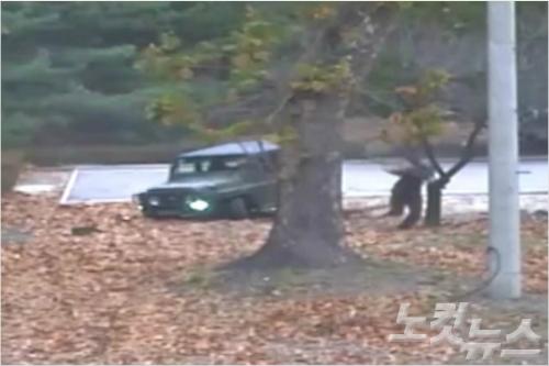 [노컷V] JSA CCTV 공개…한국 대대장, 부하 인솔 북한군 구조