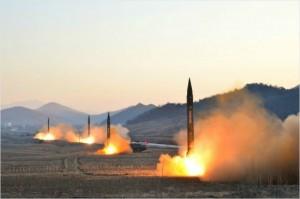 북한이 탄도미사일을 발사하는 장면. (사진=조선중앙TV 캡처/자료사진)
