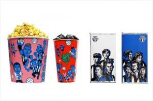 V-리그 현대캐피탈은 연고지 기업인 아라리오와 함께 선수단 캐릭터를 활용한 팝콘과 음료컵을 제작해 사용한다. 선수 일러스트가 들어간 초콜릿도 판매될 예정이다.(사진=현대캐피탈 스카이워커스 제공)