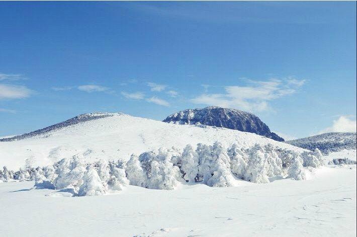 눈 덮힌 한라산과 오름…겨울 제주도 힐링여행