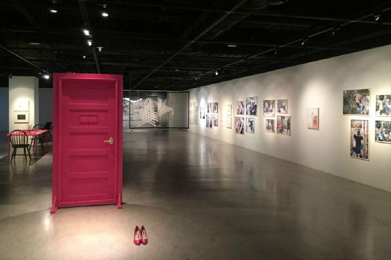 구혜선 개인전 '미스터리 핑크' 풍경(사진=파트너즈파크 제공)