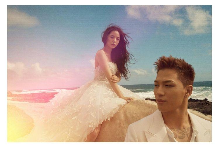 '오늘 결혼' 태양♥민효린, 분위기 있는 웨딩 화보 공개