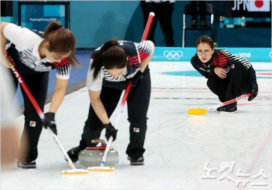여자 컬링 '팀 킴', 러시아 잡고 세계선수권 예선 3위