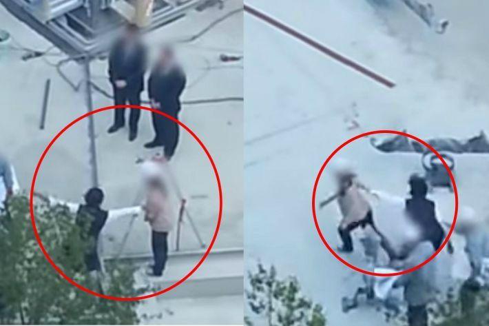 이번엔 공사장에서…이명희 추정여성 '갑질 폭행 동영상' 파문
