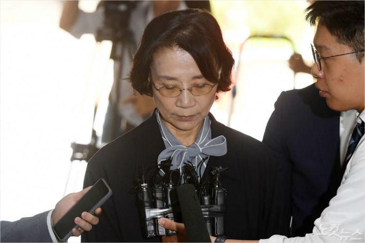 '불법 가사도우미' 의혹 이명희…법원, 또다시 영장 기각
