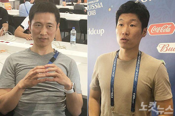 """'레전드' 이영표-박지성의 조언…""""전방 압박을 견뎌라!"""""""