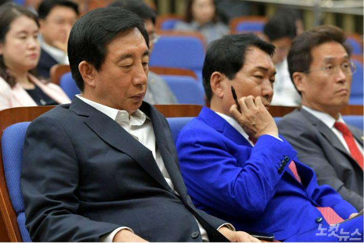 [영상] 표류하는 한국당, 이번엔 공개석상에서 '계파갈등' 폭발