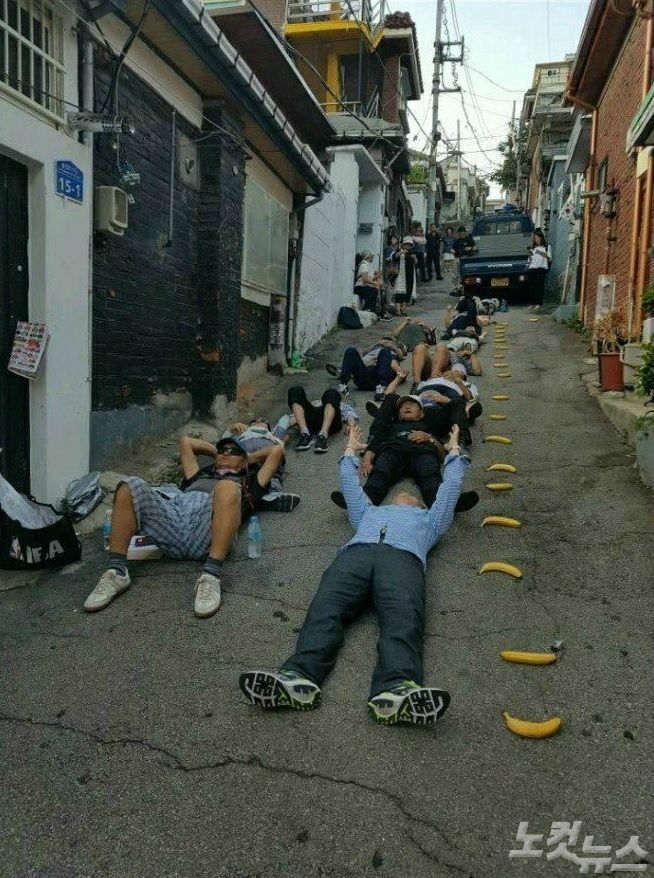 박원순 '바나나 시위대', 알고보니 박근혜 추종 세력