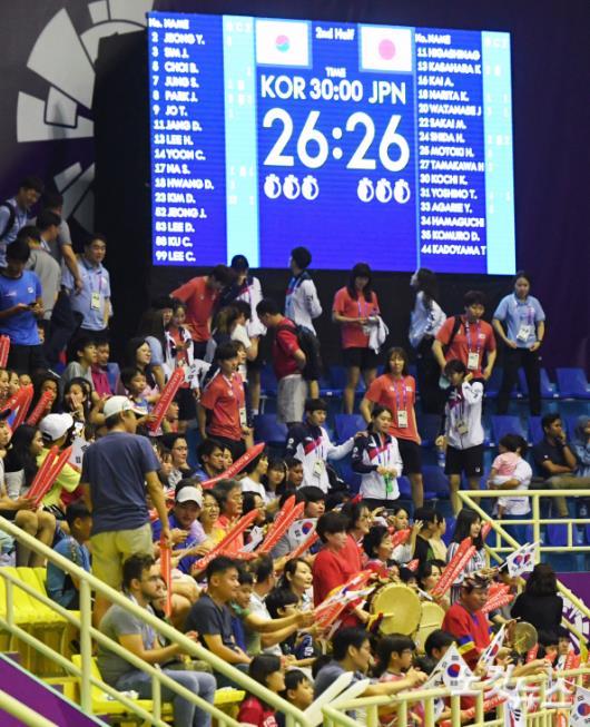 대한민국 핸드볼, 일본과 무승부