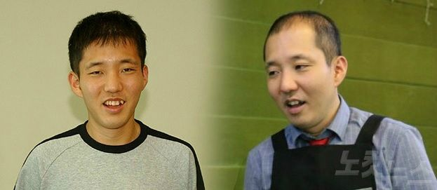 2005년의 배형진(왼쪽)씨와 36살이 된 2018년의 배 씨. 사진=SKT/CBS·푸르메재단 공동취재팀