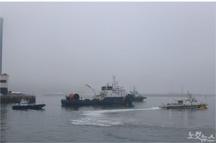 해상 방제 훈련 자료사진(사진=여수해경)
