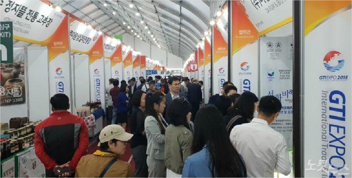 GTI박람회 개막 첫날부터 전시관이 방문객들로 붐비고 있다. (사진=전영래 기자)