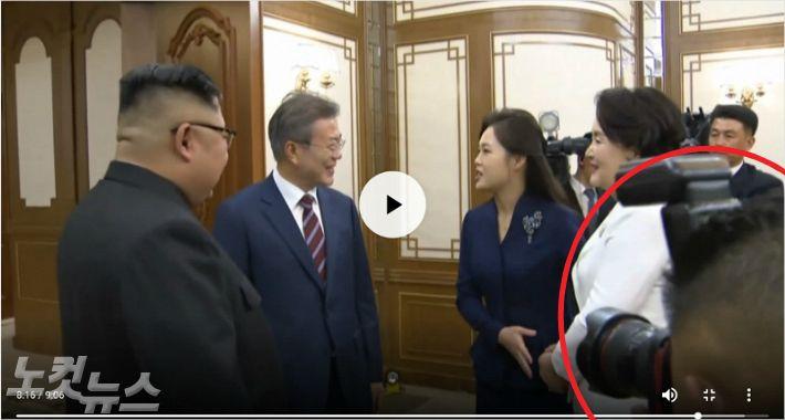 백화원 욕설, 남북 촬영자간 몸싸움 과정 신경전인 듯
