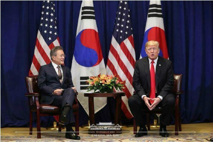 한미정상, 종전선언·2차 북미정상회담 장소·날짜 논의 (종합)