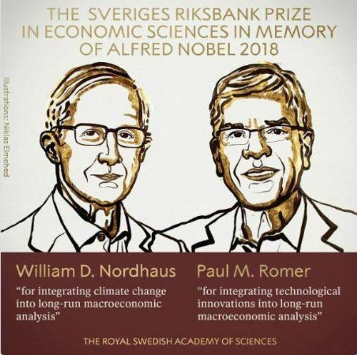 노벨경제학상에 美 노드하우스·로머 공동수상
