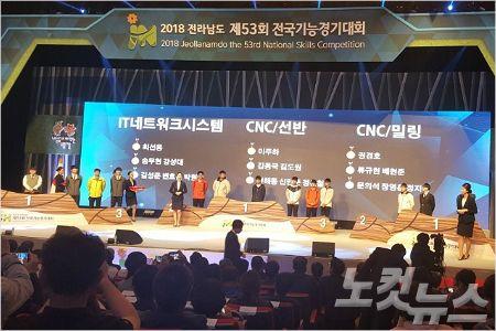 제53회 전국기능경기대회 시상식 (사진=전남 교육청 제공)