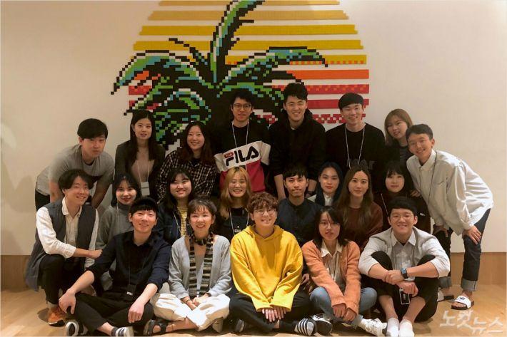 UNIST 학생창업기업 페달링 단체사진. 공대선 대표(오른쪽 맨 아래)와 팀원들의 모습.(사진 = UNIST 제공)
