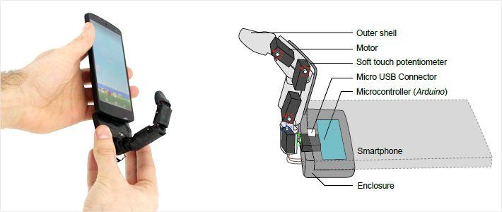 [신기방기] 스마트폰에 손가락이 달려있다면?