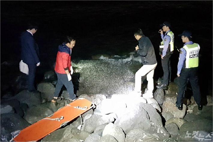 여아 시신이 발견된 장소. (사진=제주해양경찰서 제공)
