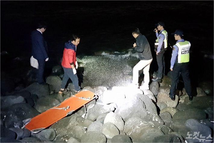 장모(3)양의 시신이 발견된 장소. (사진=제주해양경찰서 제공)